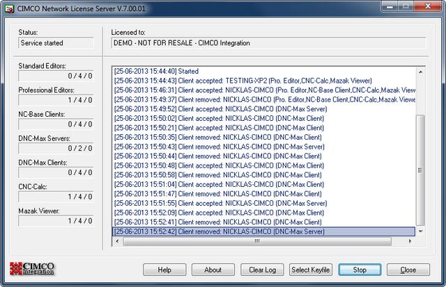 CIMCO License Server Running