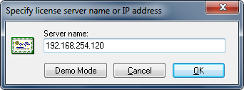 Specified License Server IP Address