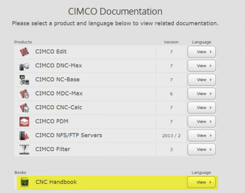 CIMCO Documents, CNC Handbook