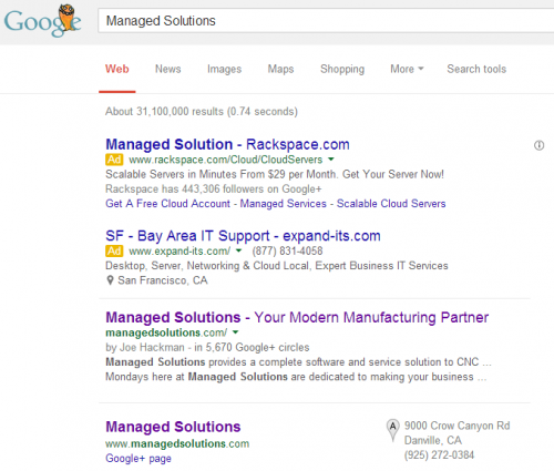 Searching for Managed Solutions