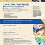 Low Interest Tax Exempt Financing Available to California Manufacturers