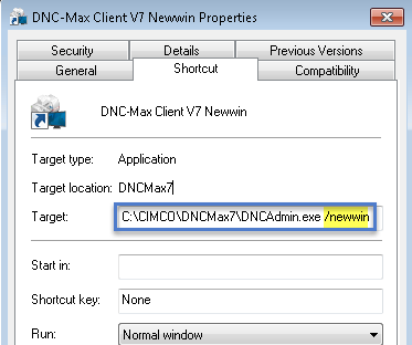 Add /newwin to launch second DNC Max Client