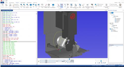Haas UMC 96-8250E Simulation in CIMCO Editor