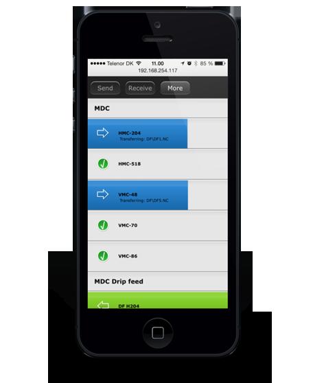 DNC Max 7 Web on iPhone