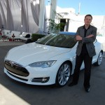 Elon with a Tesla Model S in Fremont