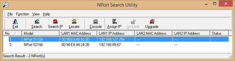 NPort Search Results